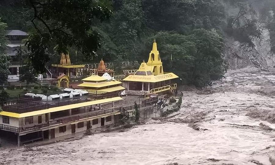 Legship village and surrounding areas of West Sikkim have been witnessing incessant rainfall since 5 pm on Wednesday