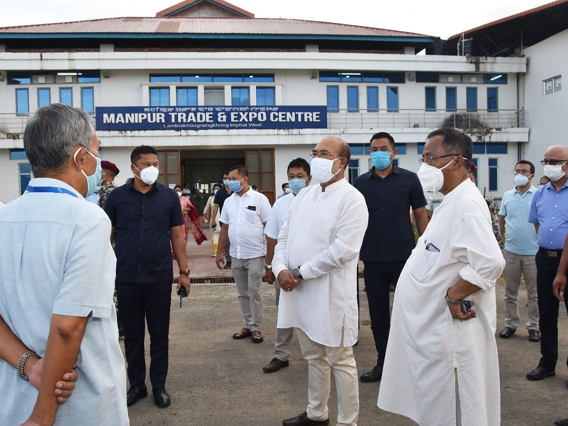 Manipur CM inspects new 300-bedded COVID-19 Care Centre in Imphal