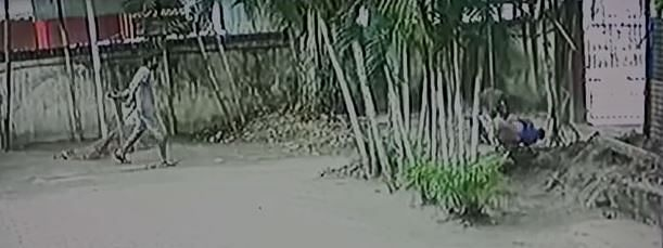 CCTV footage grab of the incident