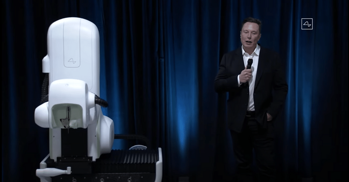 Elon Musk speaking at the event