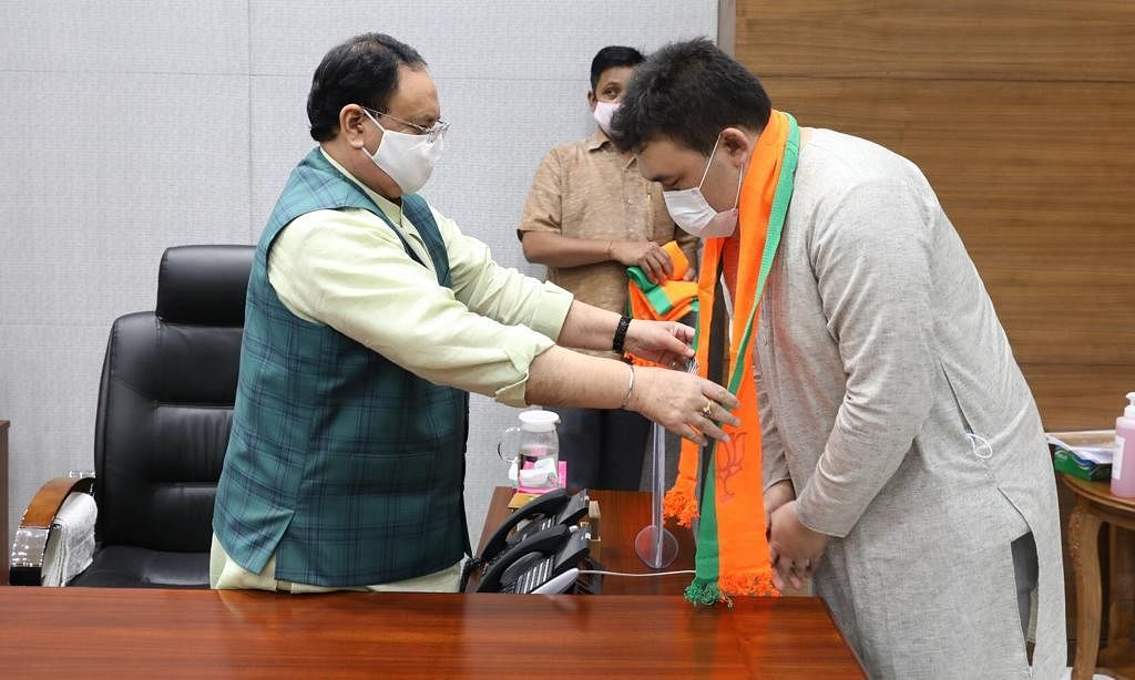 Five Manipur former Congress MLAs joined the BJP party in Delhi