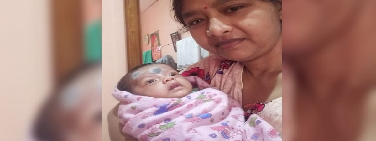 The 38-year-old woman, with her 5 month baby girl