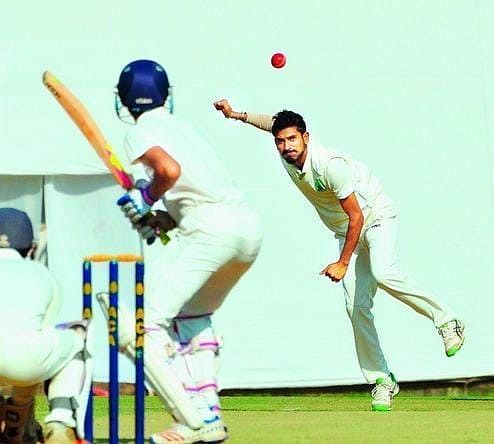 Left-arm spinner Rahul Singh practised bowling on the streets during lockdown