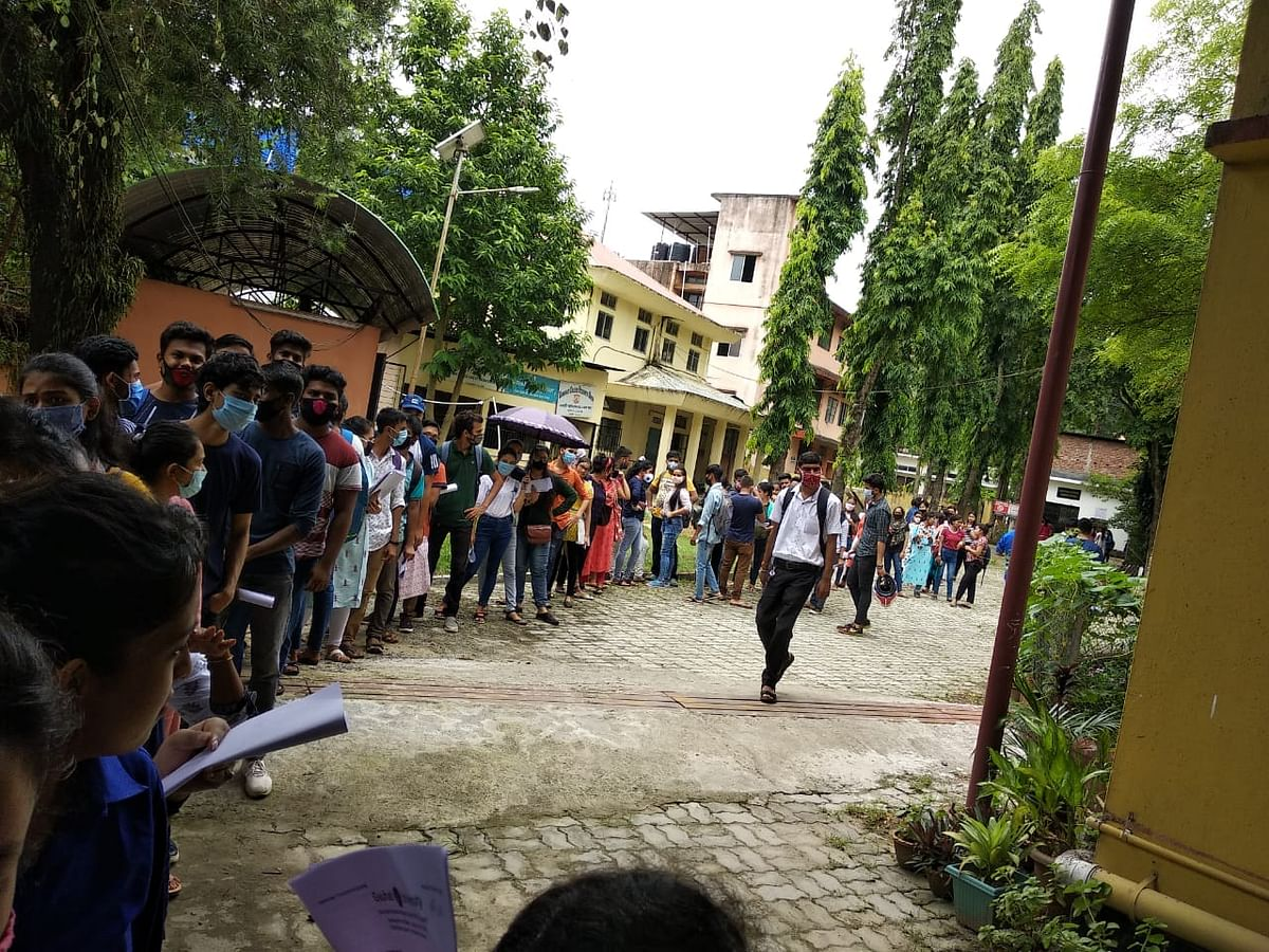 The gathering inside college premises on that day