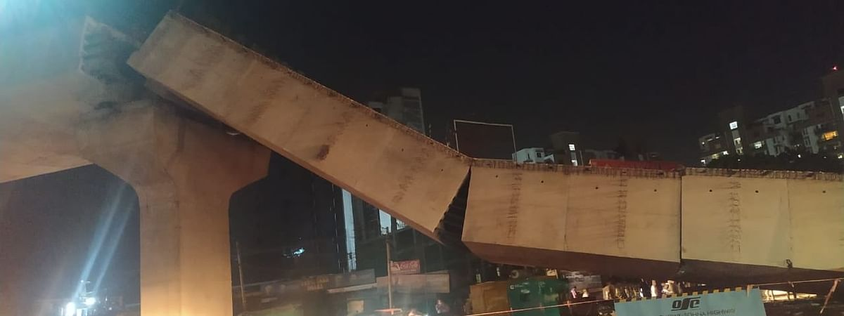 The flyover collapsed on Saturday night
