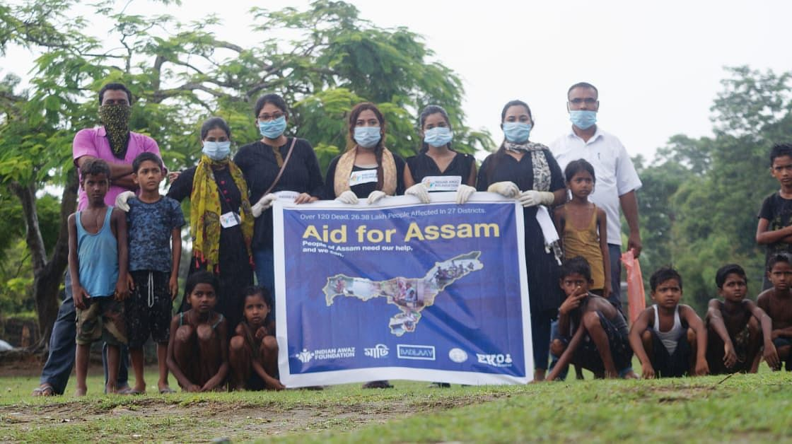 The organization, through crowdfunding with the moniker 'Aid for Assam,' provided the relief operations