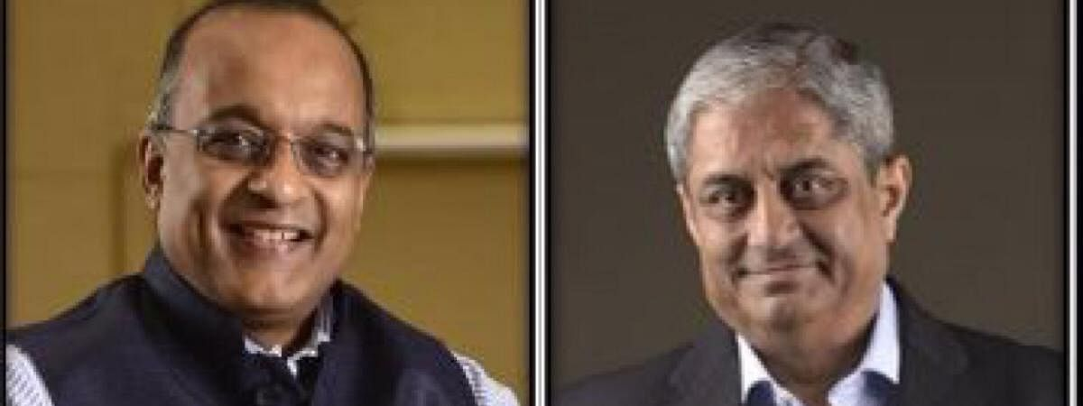 Sashidhar Jagdishan (left) will replace current chief Aditya Puri (right), who led the bank since inception, as he retires on October 26, this year