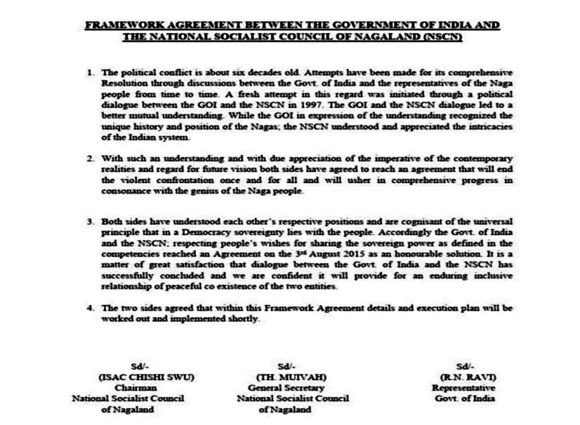 The NSCN-IM claimed that Ravi manipulted the FA by omitting the word 'new'