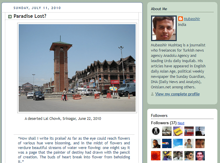 Screen grab of the blog post