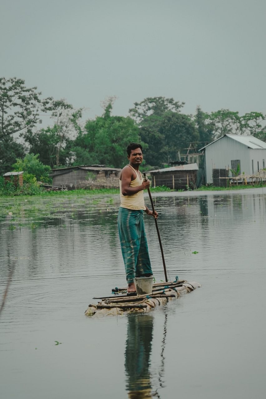 Every year, three to four waves of floods ravage Assam and affect around 31.05 lakh hectares, which is about 39.58% of the total land area of Assam