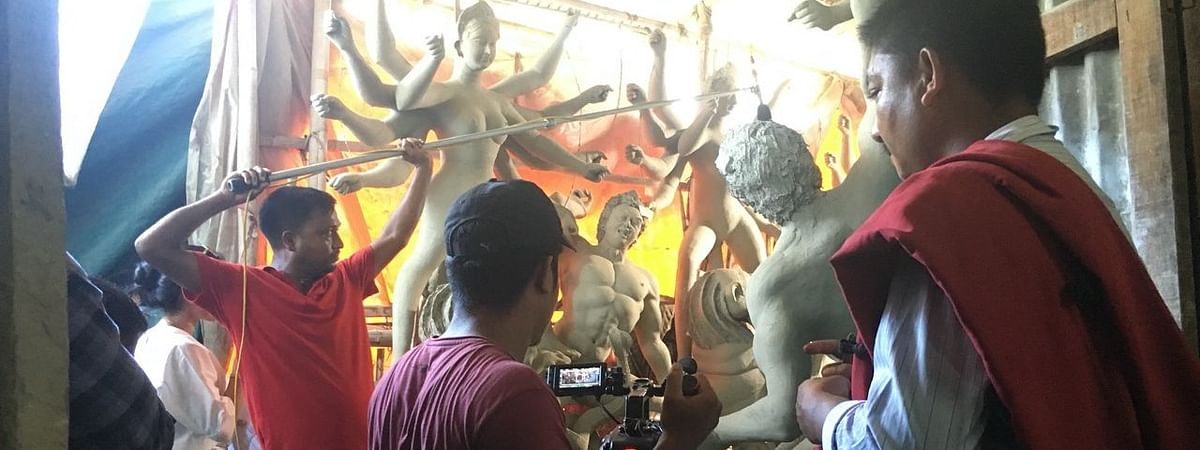 BTS moments while shooting the ad film