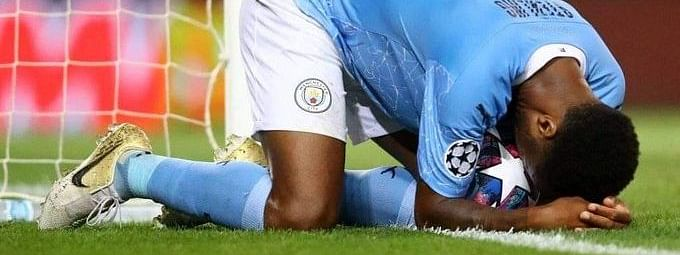 Manchester City forward Raheem Sterling missed an absolute sitter as his side made exit from the UEFA Champions League