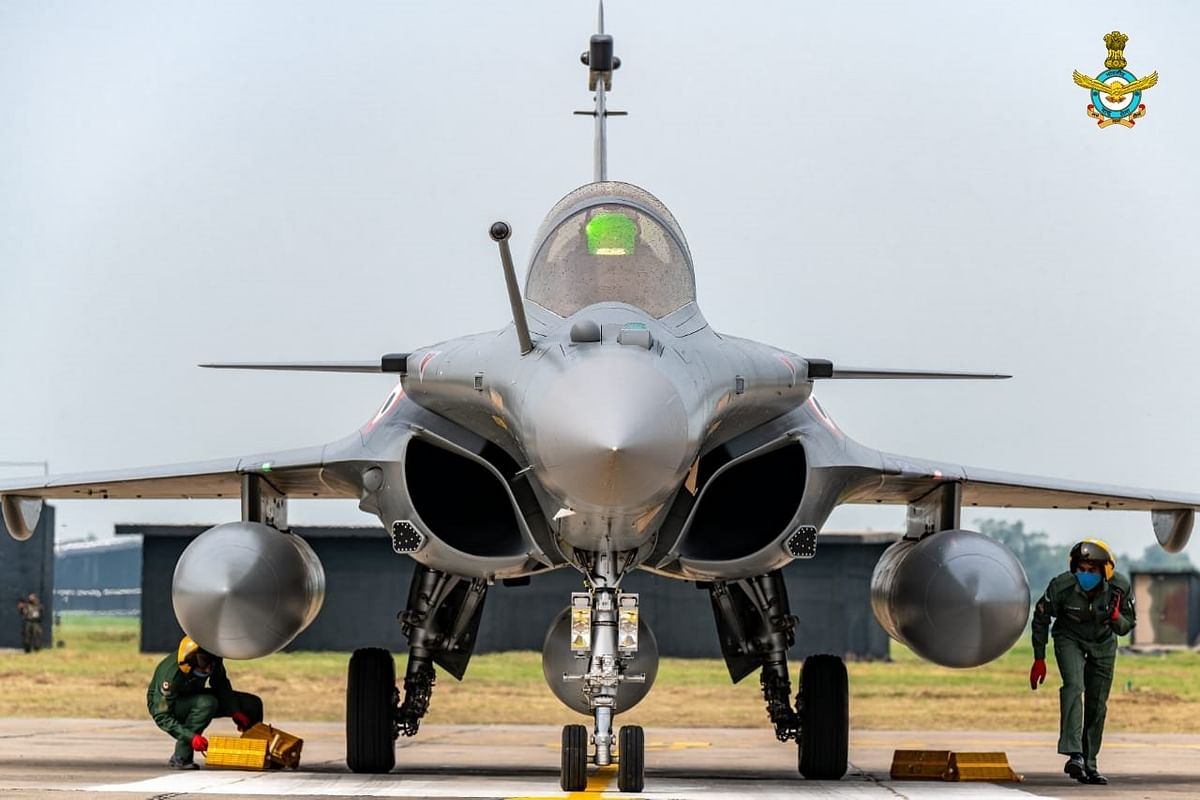 Rafale is equipped with AESA (active electronically scanned array) radar and frontal infra-red search and track (IRST) sensor