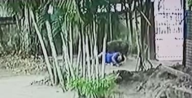 CCTV footage grab of the attack