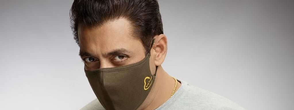 Bollywood actor Salman Khan  unveiled his line of Being Human masks on social media on August 14