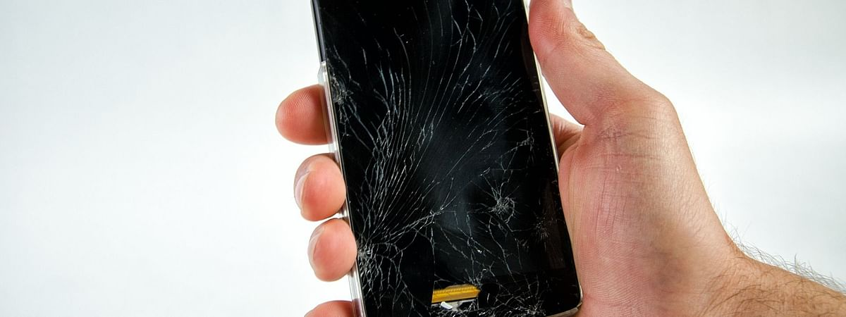 Police say that the complainant's phone display got damaged in December 2019