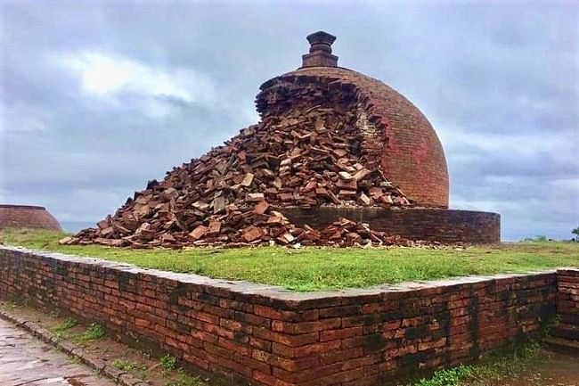 The restored Maha Stupa at Thotlakonda which had collapsed in 2019