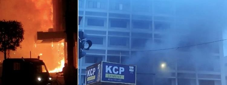 The reason for the fire in the building is still unknown but media reports suggest that a short circuit might have led to the incident