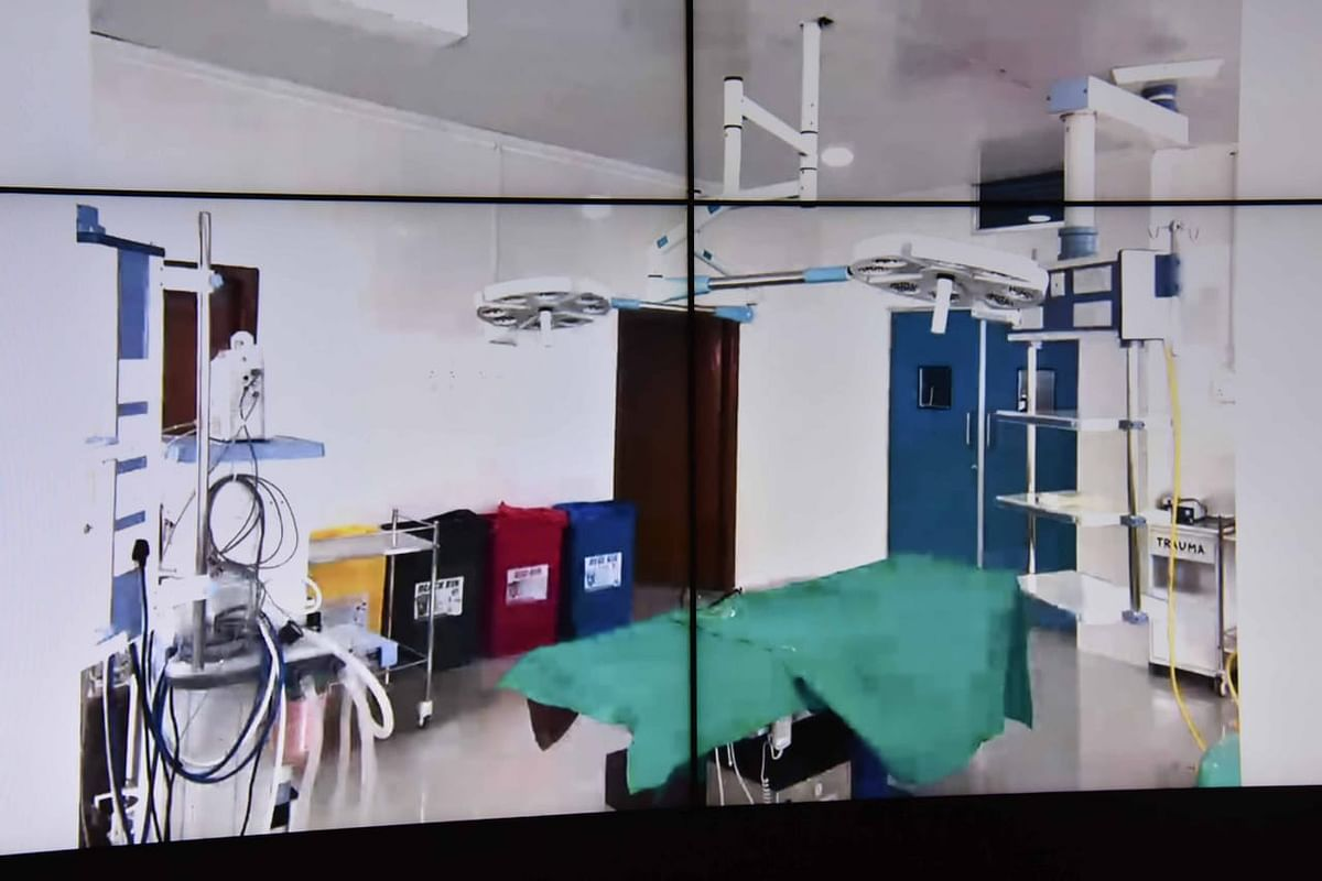 The center has 30-bedded ICU with ventilators and twin Operation Theatre Complex