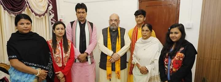Union home minister Amit Shah during his visit to Tripura last year