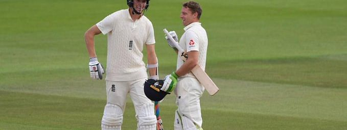 Zak Crawley(267) and Jos Buttler(152) put on a record 5th wicket partnership of 359 for England in Southampton