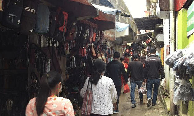Shoppers in Kohima on Saturday after the 14-day total lockdown is lifted
