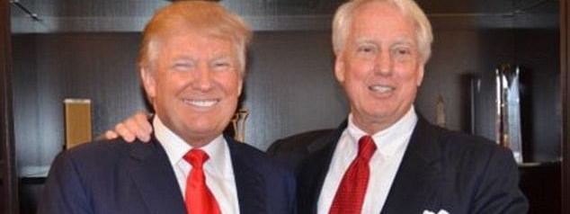 US President Donald Trump told reporters that his brother Robert (right) was 'having a hard time' with an undisclosed illness