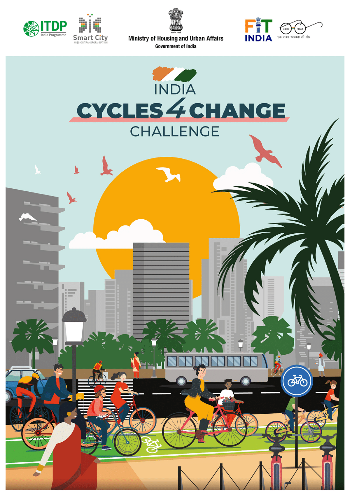 On June 25, Shri Hardeep Singh Puri, Minister of State for Ministry of Housing and Urban Affairs announced the launch of India Cycles 4 Change Challenge