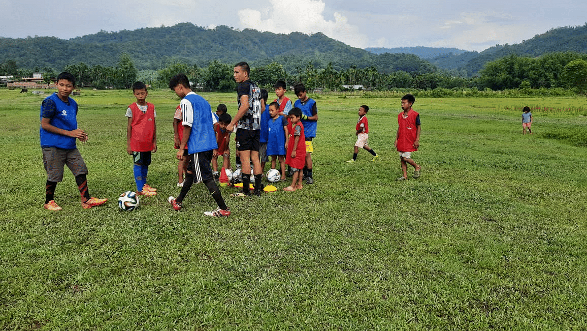 A practice session at Merapani village in Wokha district of Nagaland