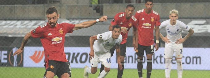 Manchester United beat FC Copenhagen with extra-time penalty to enter Europa League semis