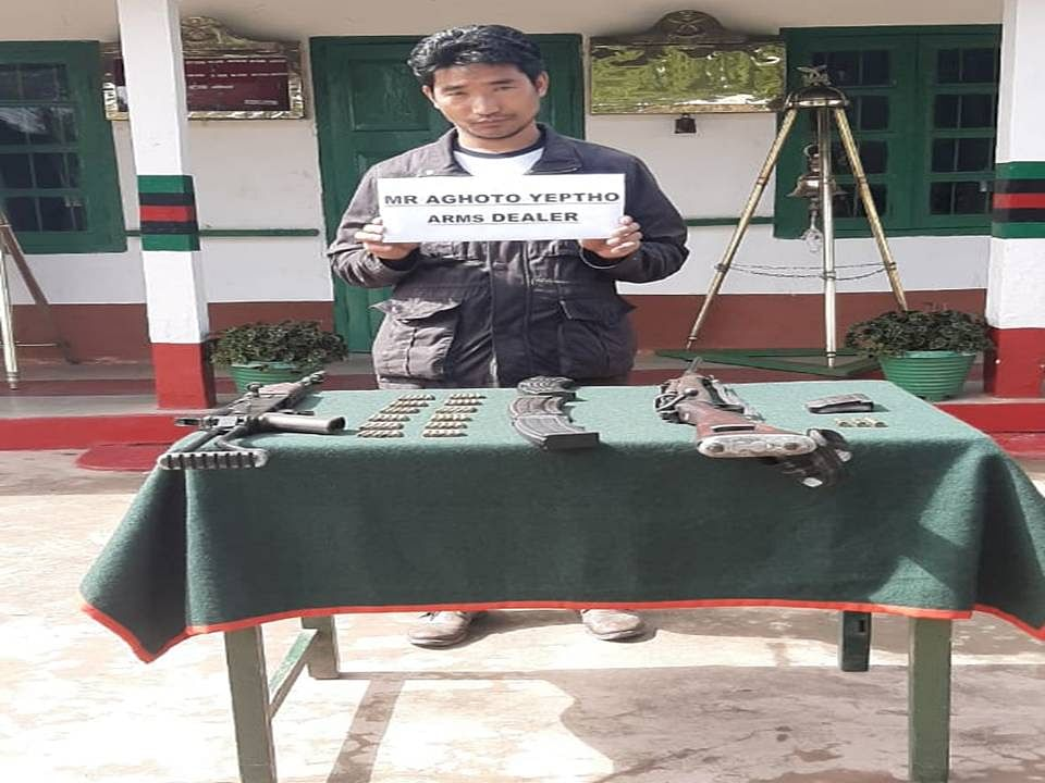 The arrested person along with recovered items