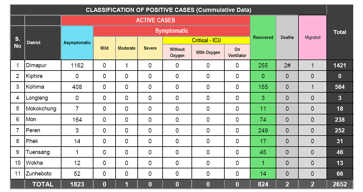 Classification of positive cases. Deaths outside the COVID-19 hospitals not reflected in the table.