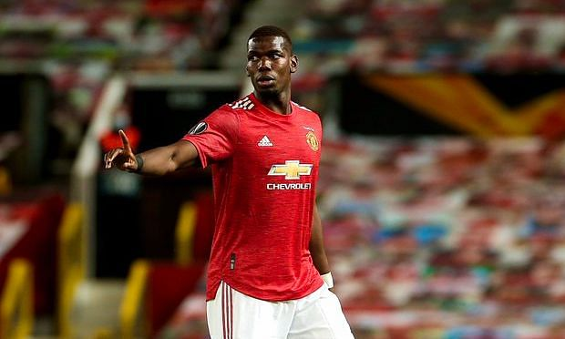 Manchester United midfielder Paul Pogba tested positive for COVID-19 on Thursday