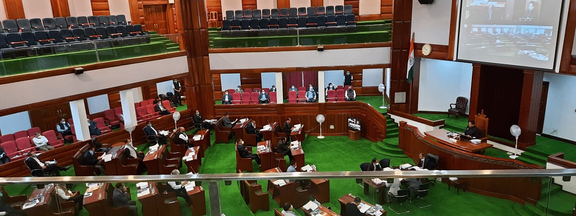 A glimpse of the one-day Assembly session of the NLA on Thursday
