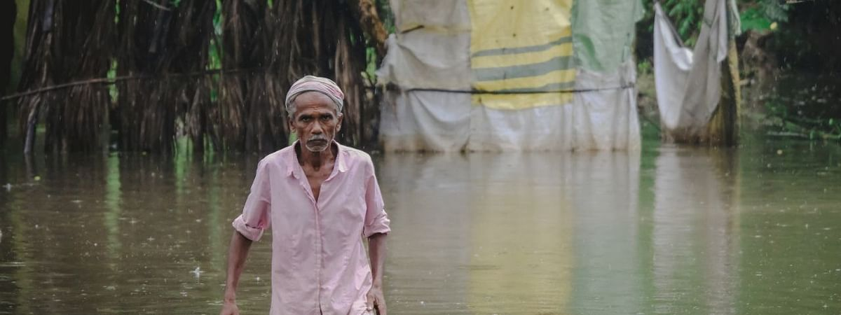 The first wave of floods hit the state in May; by the third wave in July, it had affected around 3 million people in nearly 3,000 villages in 27 districts of the state