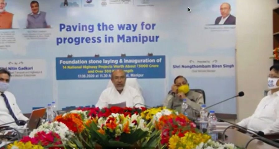 Manipur CM N Biren Singh presided the virtual function from Manipur Bhawan in Delhi