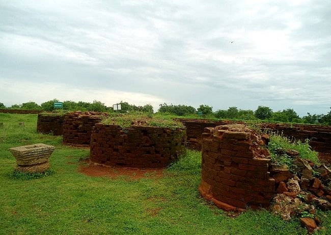 Remnants of stupas at the Thotlakonda Complex