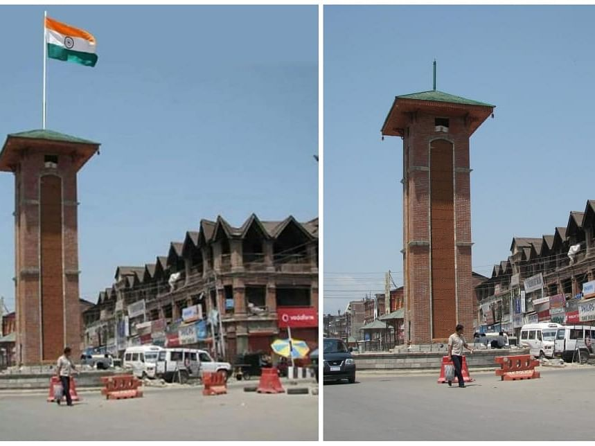 Viral image of Indian flag at Lal Chowk in Srinagar fake or real?