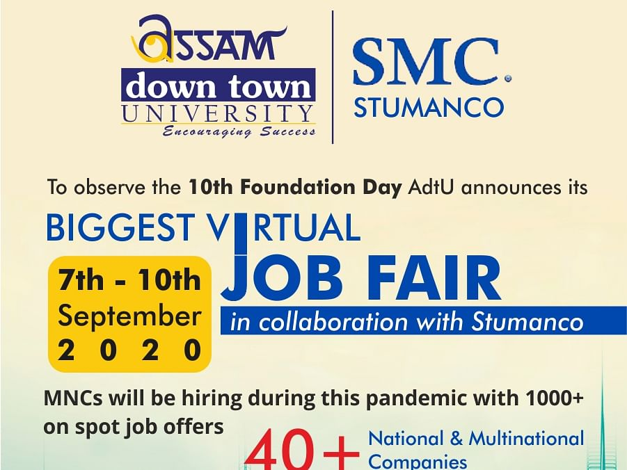 In a 1st, Assam down town University to hold virtual job fair from Sept 7-10