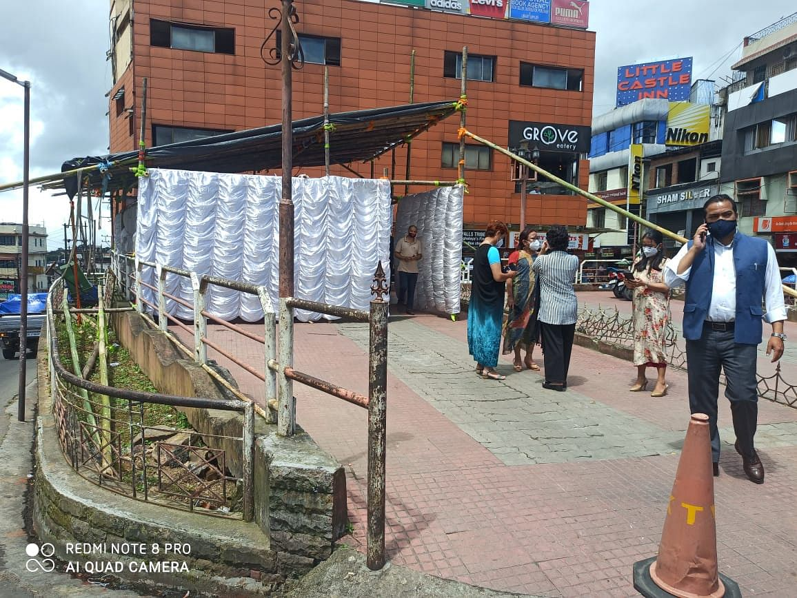 Random testing being carried out at Police Bazar in Shillong
