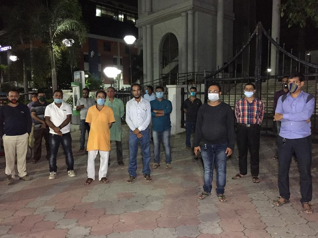 A group of teachers gathered in Agartala to remember the victim teachers'