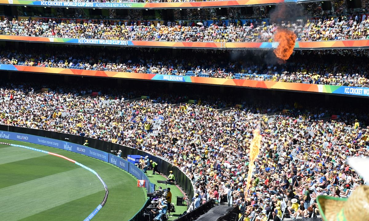 The Melbourne Cricket Ground during a match in the ICC Crcket World Cup 2015