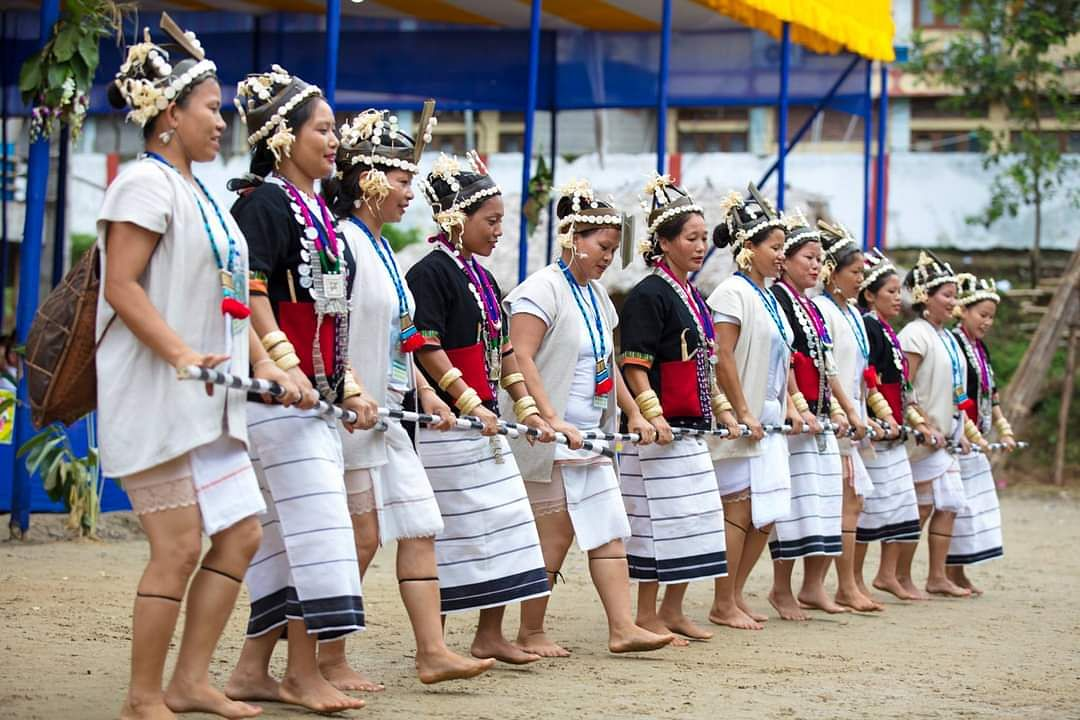 Ponung dance (women) of Adi Tribe