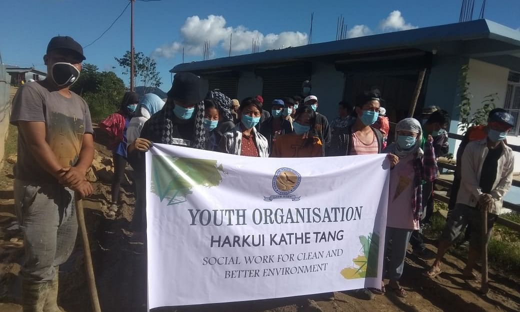 Youths voluntarily fixed potholes and repaired the dilapidated roads in Ukhrul district