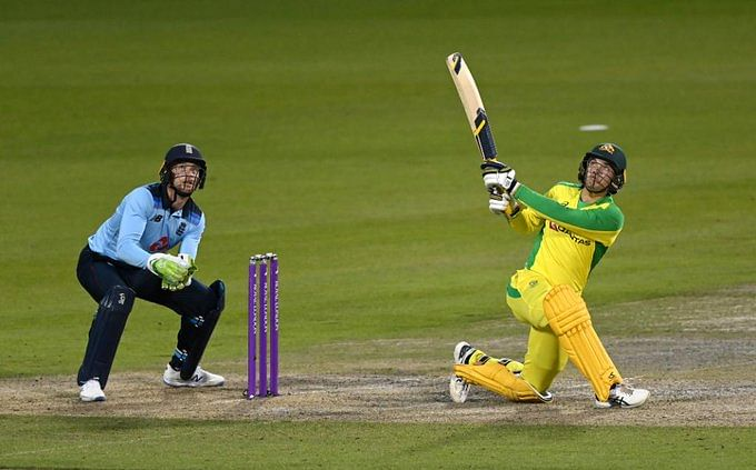 Alex Carey brought up his maiden ODI hundred en-route to his 106 of 114 on Wednesday
