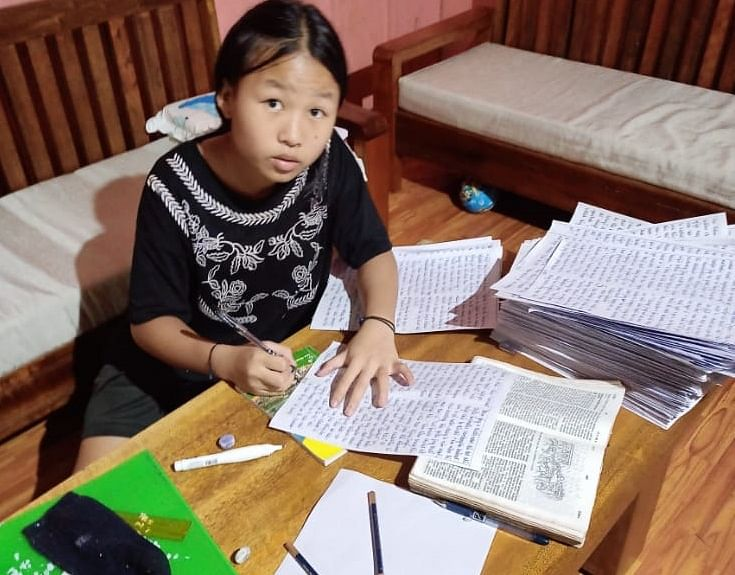 Social worker Mathanmi Hungyo from Kamjong district, Manipur
