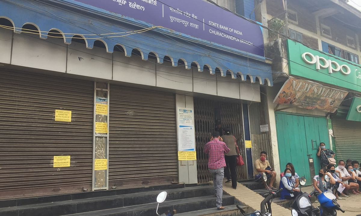 SBI bank at Churachandpur district