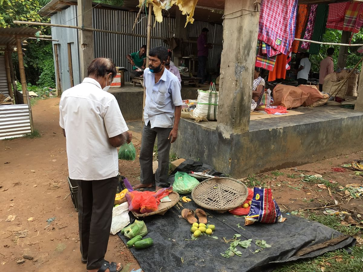 Samar Das who has turned into a vegetable seller to sustain the livelihood of his family