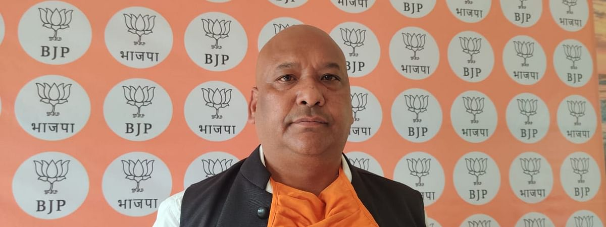 BJP State President Ernest Mawrie during a briefing on Tuesday