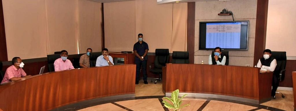 Chief minister Sarbananda Sonowal during the meeting